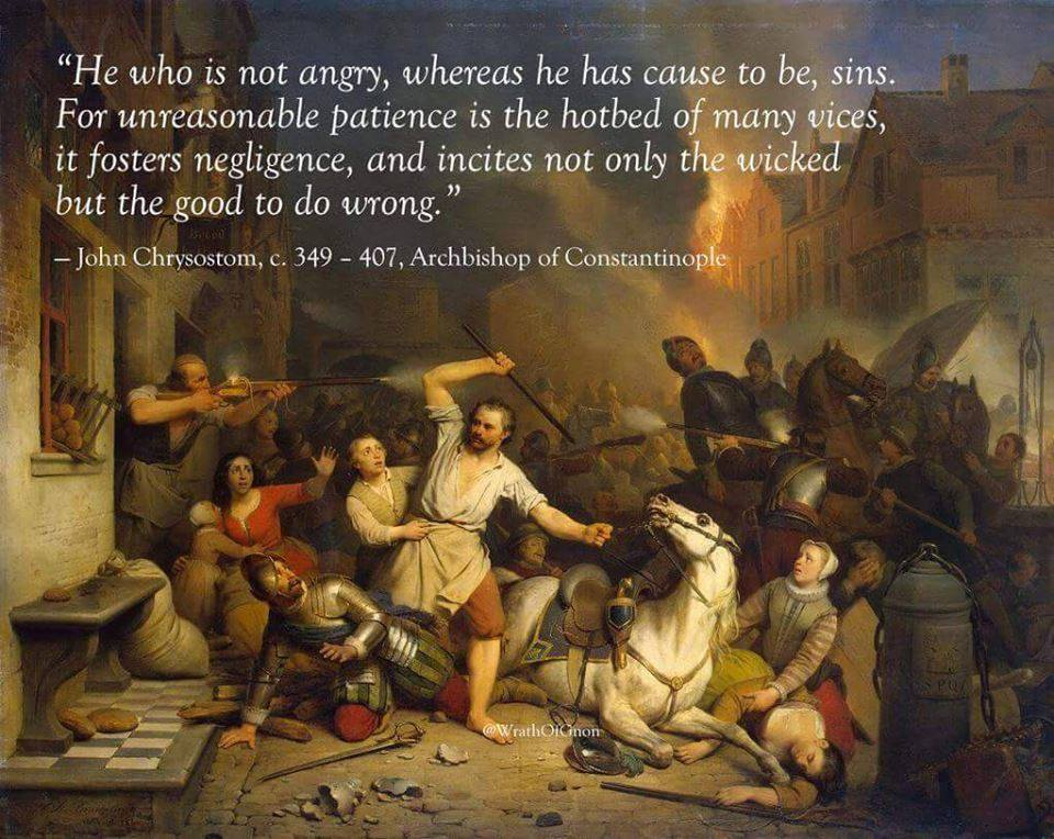 The Necessity of Righteous Anger