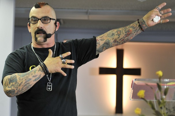 biker-ministries-leader-with-a-past-tattoo-Marilyn-Mansonization-church